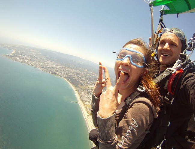 Skydiving in SF